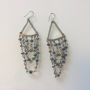 Kenneth Cole | Blue/Grey Faceted Bead Earrings